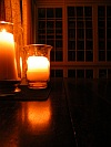 The library by candlelight