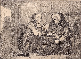 Chatting, engraving after Thomas Rowlandson#