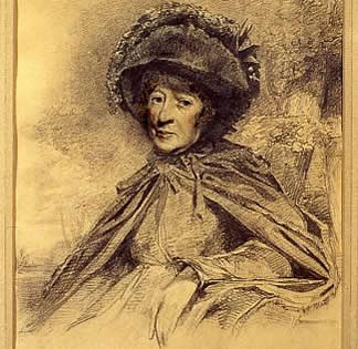 Drawing of Hester Piozzi, nee Thrale