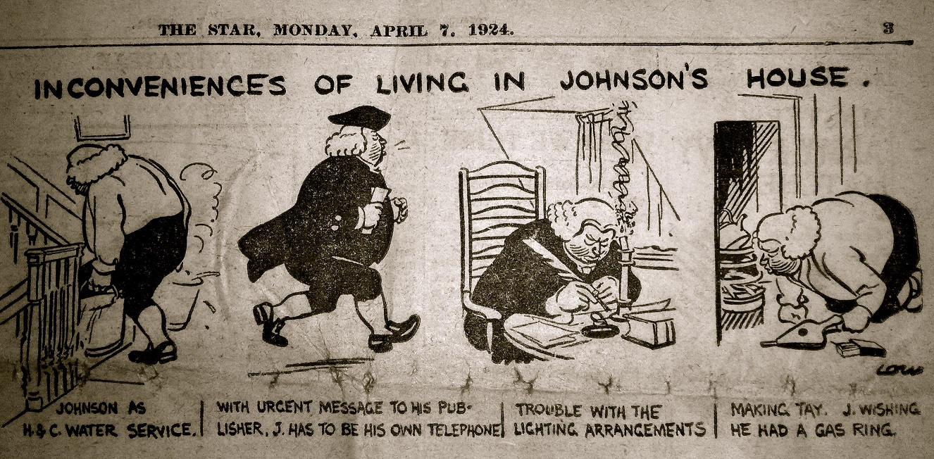 Newspaper clipping (The Inconveniences of Living in Dr Johnson's House'), The Star, 1924